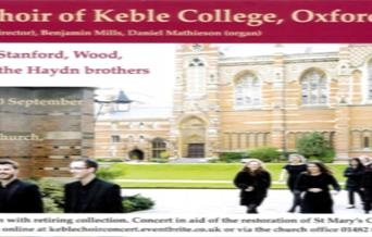 A poster for The choir of Keble College