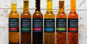 A range of dipping oils available from Charlie & Ivy's, Malton, North Yorkshire.