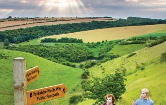 The front cover of the Yorkshire Wolds Way leaflet
