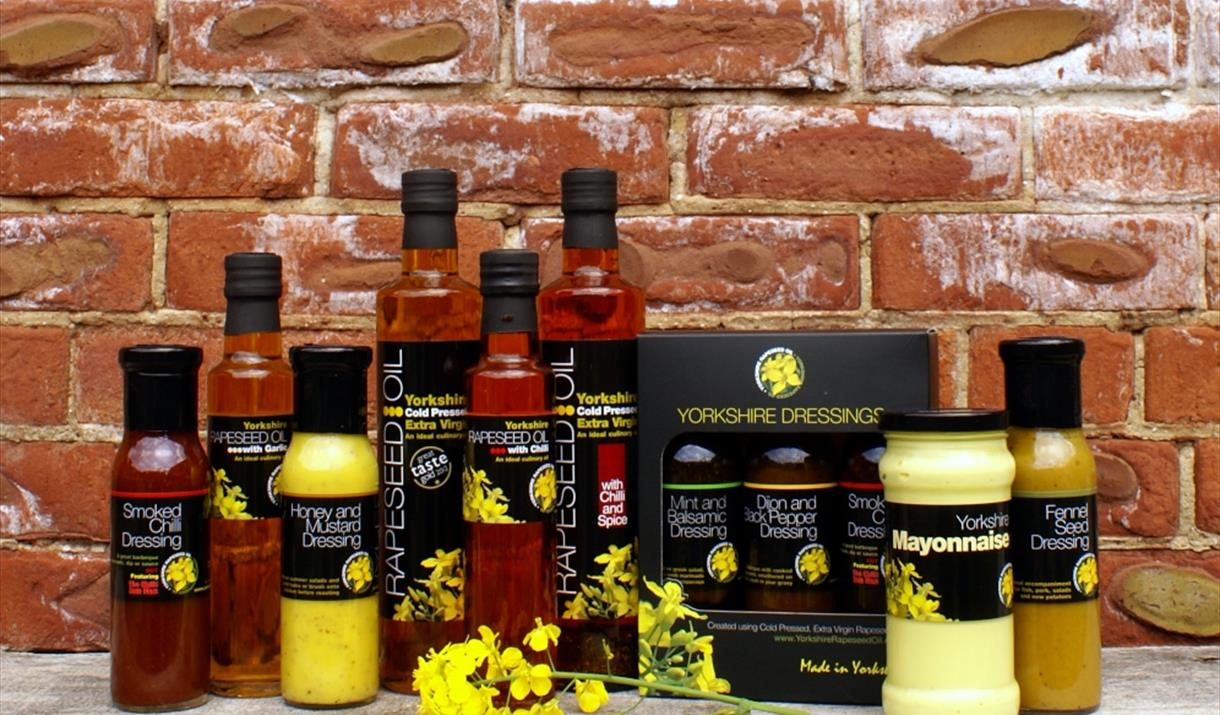 A range of products available at Yorkshire Rapeseed Oil, Malton, North Yorkshire (Online Shop)