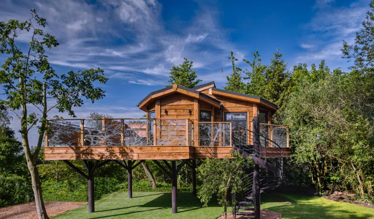 The  Treehouse lodge at Wolds Edge Holiday Lodges, Bishop Wilton in East Yorkshire.
