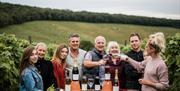 Family & friends of Little Wold Vineyard, Brough, East Yorkshire.