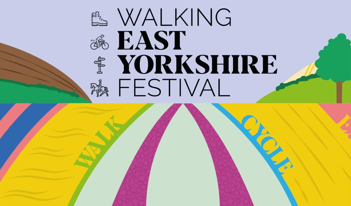An image of the Walking East Yorkshire Festival banner