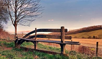 Wander bench near South Cave on the Yorkshire Wolds.