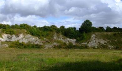 The Wharram Quarry Nature Reserve at Wharram, Malton, East Yorkshire.