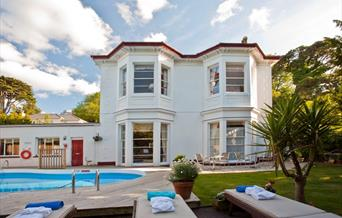 Marstan Guest House and pool in Torquay, Devon