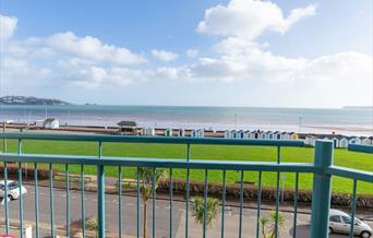 Balcony and view from 11 Belvedere Court, 37 Marine Drive, Paignton, Devon