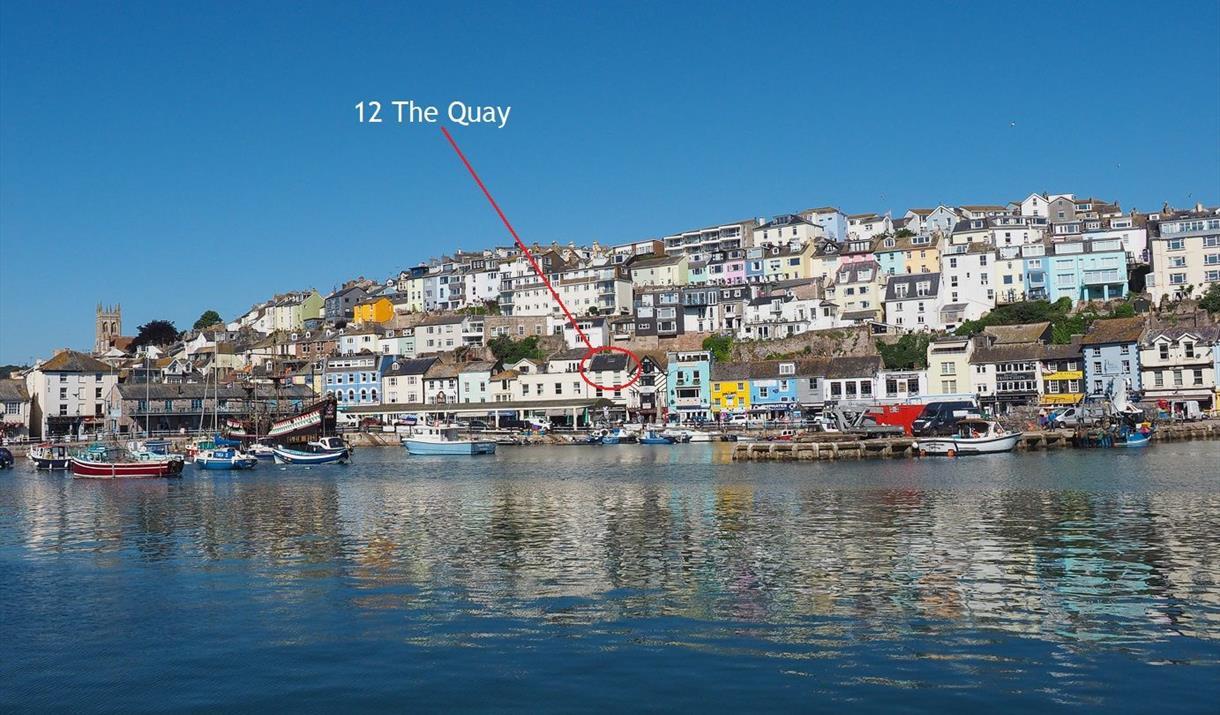 Location, Top Flat, 12 The Quay, Brixham, Devon