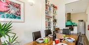Dining Room, Top Flat, 12 The Quay, Brixham, Devon