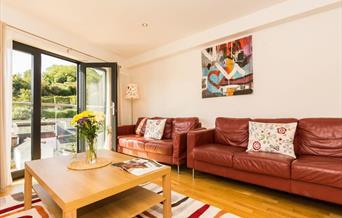 Living Room, 1 Middle Manor Cottages, Lower Manor Road, Brixham, Devon