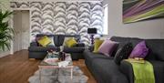 Lounge area at Palm Grove Apartments, Torquay, Devon