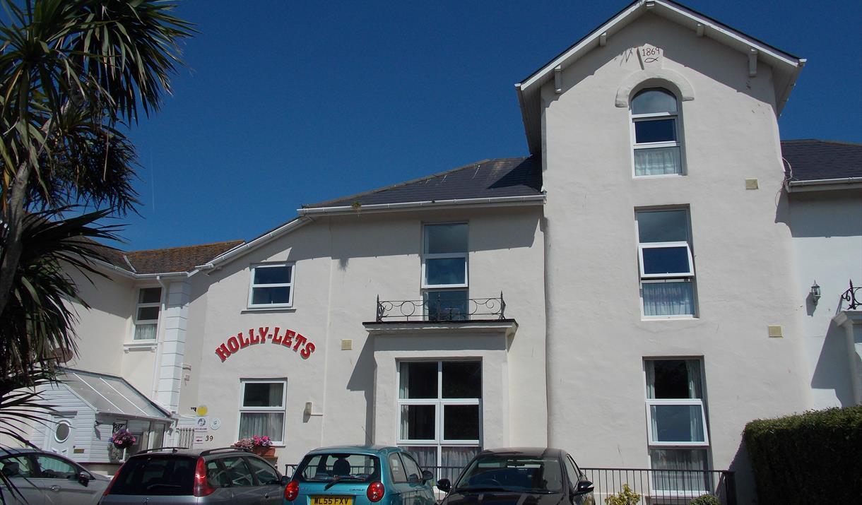 Parking area at Holly-Lets, Paignton, Devon