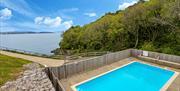 Shared outdoor swimming pool, 3 Sandpiper, The Cove, Brixham, Devon