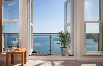 View from a property let through Blueriver Cottages, Torquay, Paignton and Brixham, Devon