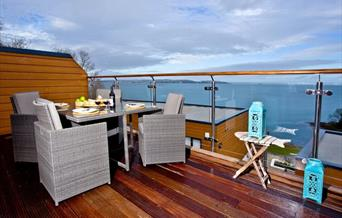 View from, Curlew 4, The Cove, Brixham, Devon
