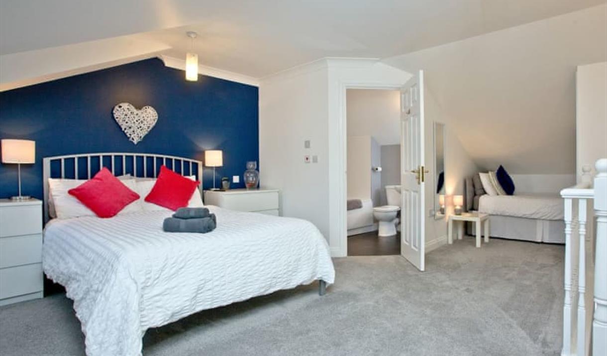 Bedroom, 4 Mount Braddon Mews, Torquay, Devon