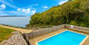 Shared outdoor swimming pool, Curlew 5, The Cove, Brixham, Devon