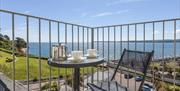 Balcony and view, 9 Vista Apartments, 19 Alta Vista Road, Paignton, Devon