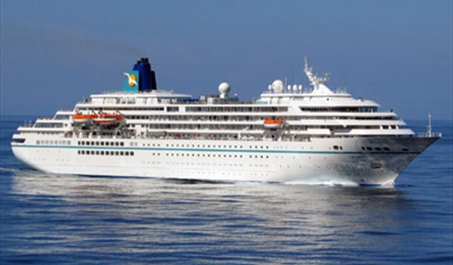 Visit of Amadea Cruise Ship, Tor Bay, Devon