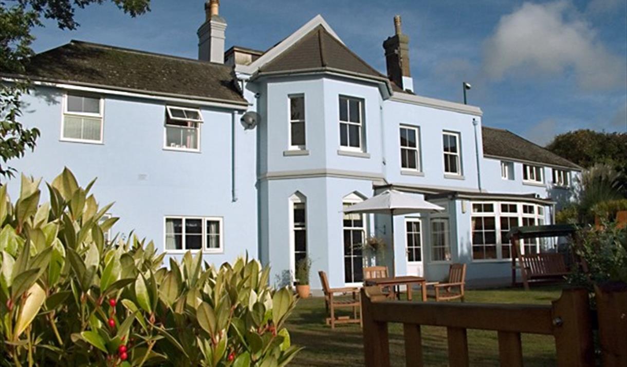 Amber House Garden side Overlooking Bay.