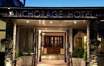 Entrance, Anchorage Hotel, Torquay, Devon