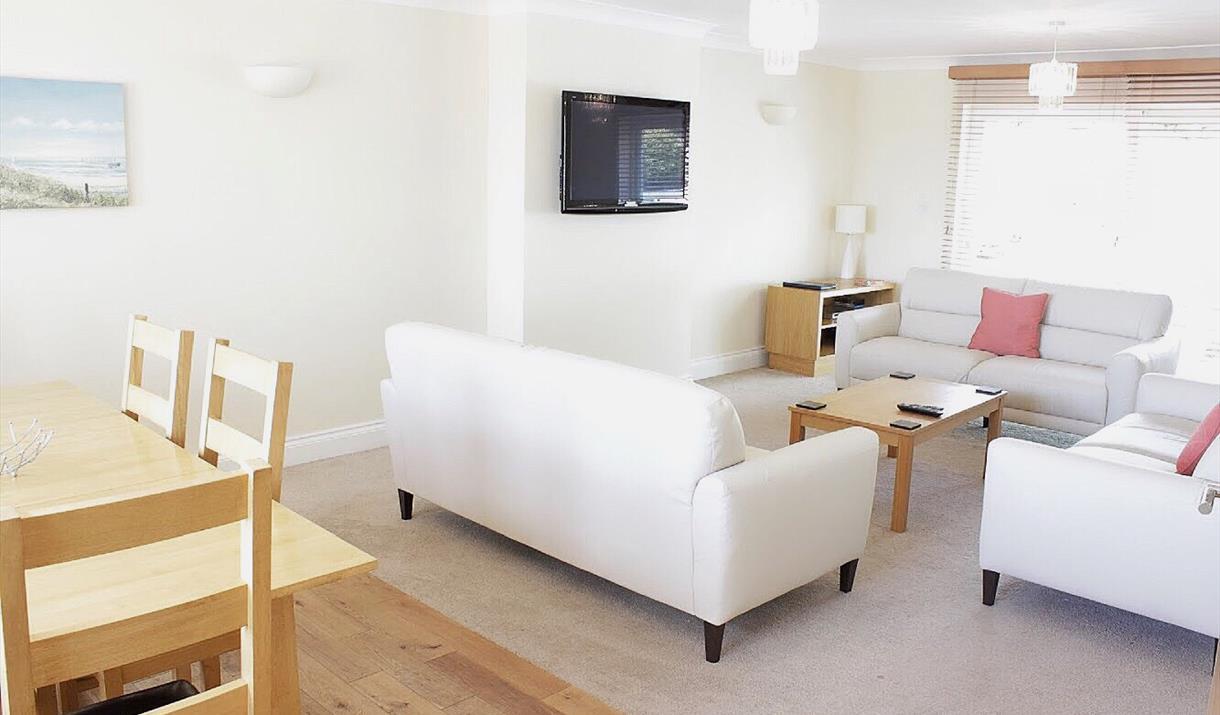 Lounge, Apartment 1, Goodrington Lodge, 23 Alta Vista Road, Paignton, Devon