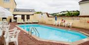 Outdoor swimming pool, Ashley Court Hotel, Torquay, Devon