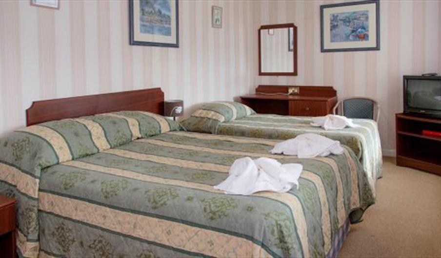 Bedroom, Ashley Court Hotel, Torquay, Devon