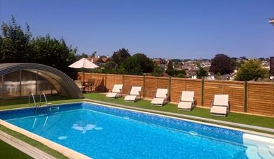 Outdoor pool, Atlantis Holiday Apartments, Torquay, Devon