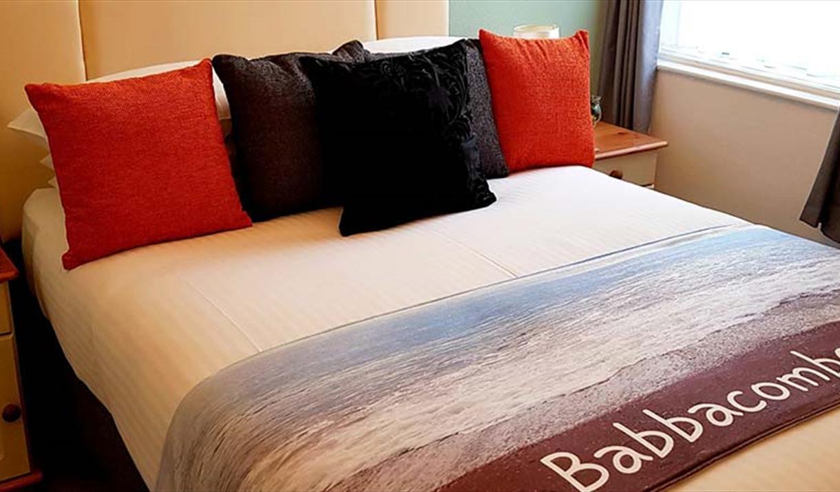 Bedroom at the Babbacombe Palms, Torquay, Devon