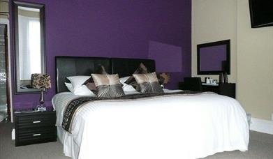Double bedroom at The Bahamas Torquay, Devon
