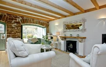 Lounge, Bay Tree Cottage, 2 Alston Farm Cottages, Brixham, Devon