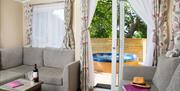 hot tub caravan holiday at Whitehill Country Park, Paignton,Deon