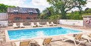 Outdoor swimming pool, Blagdon House Country Cottages, Blagdon, Paignton, Devon