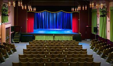Stage at Brixham Theatre, Brixham, Devon