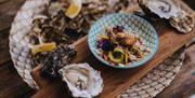 Fresh seafood at Cantina Kitchen in Paignton, Devon