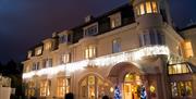 Headland Hotel Christmas front entrance Torquay in Devon