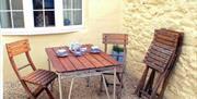 Outside seating, Coastguard Cottage, Roundham Road, Paignton, Devon