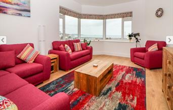Lounge with view, Compass Point, 11 Glenmore Road, Brixham, Devon