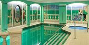 Indoor pool, Corbyn Apartments, Torquay, Devon
