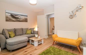 Lounge, Cove Cottage, 58 Park Road, Torquay, Devon
