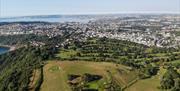 Aerial shot of TGC course, Torquay, Devon