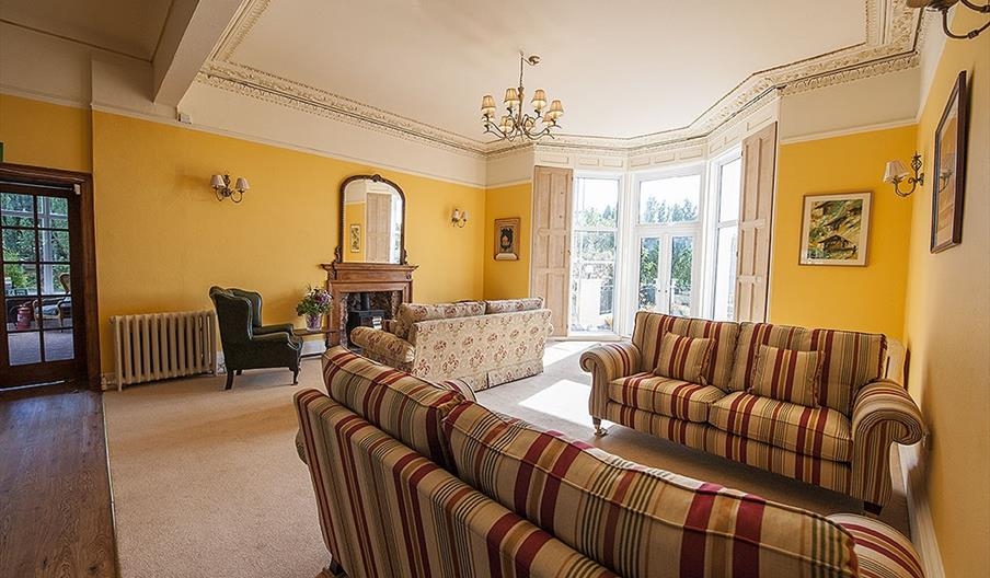 Guest Lounge at Crofton House Hotel, Torquay, Devon