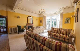 Guest Lounge at Crofton House Hotel, Torquay, Devon