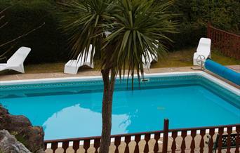 Swimming pool at The Elmington, Torquay, Devon