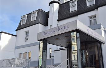 Entrance to Riviera Hotel, Torquay, Devon