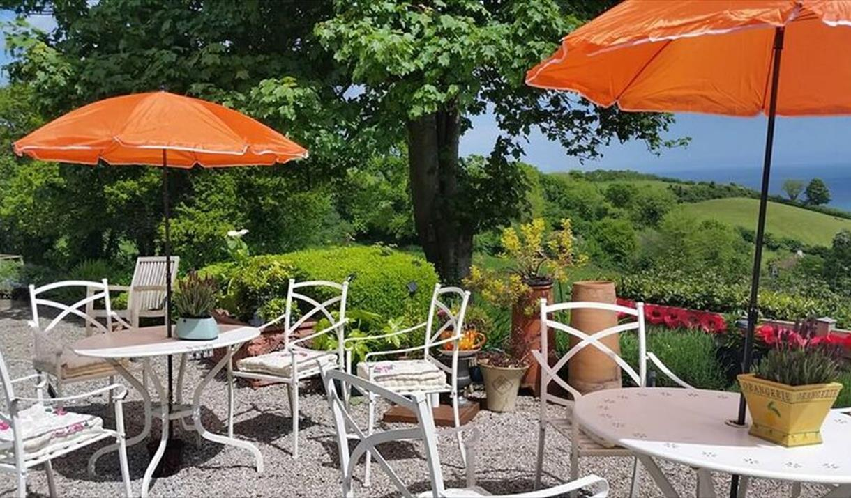Enjoying the views from Bowden House, Torquay, Devon