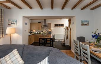 Open plan lounge/diner/kitchen Gemswood Cottage, 2 Greenswood Court, Brixham, Devon