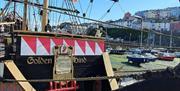 Bow of Golden Hind Museum Ship, Brixham, Devon
