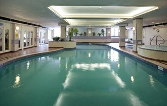 Indoor pool, Grand Leisure Suite, Grand Hotel, Torquay, Devon